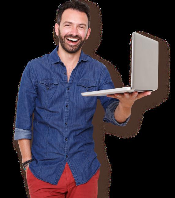 Image of a happy logo design customer in Dublin